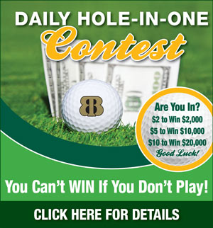 Graphic promoting Bloomingdale Golf & Tennis Club Daily Hole-in-One contest